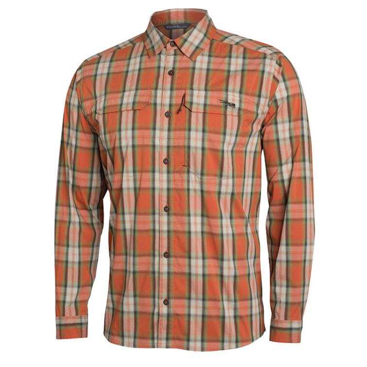 Рубашка SITKA Globetrotter Shirt LS цвет Canyon Plaid фото 1