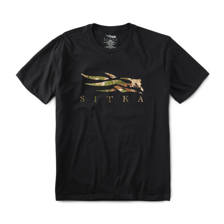 Футболка SITKA Core Tee SS цвет Black / Subalpine фото 1