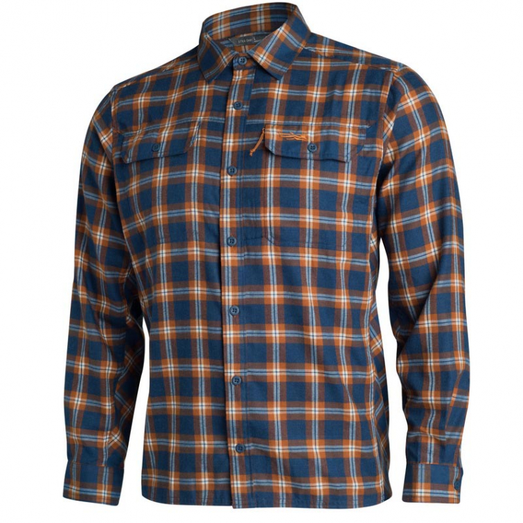 Рубашка SITKA Frontier Shirt цвет Midnight Plaid фото 1