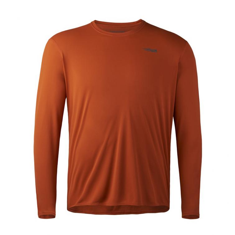 Футболка SITKA Basin Work Shirt LS цвет Burnt Orange фото 1