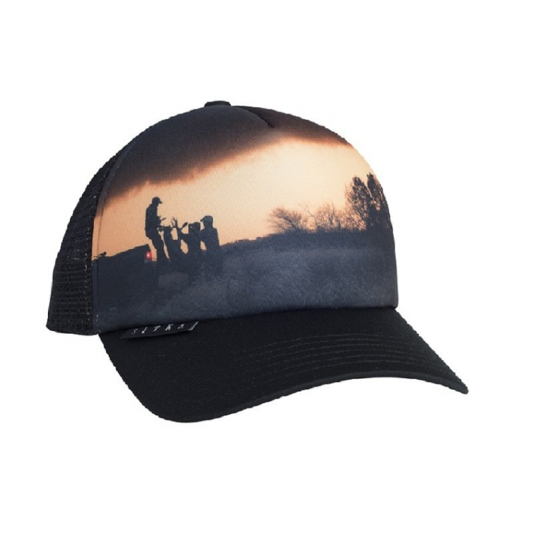 Бейсболка SITKA Landscape Trucker Wt цвет Black фото 1