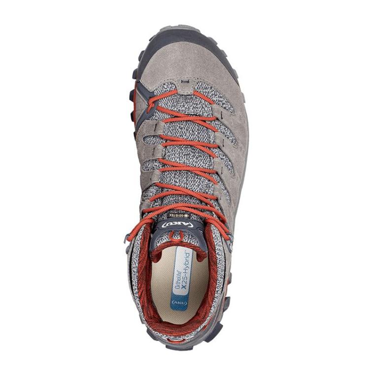 Ботинки треккинговые AKU Alterra Lite Mid GTX цвет Grey / Red фото 3