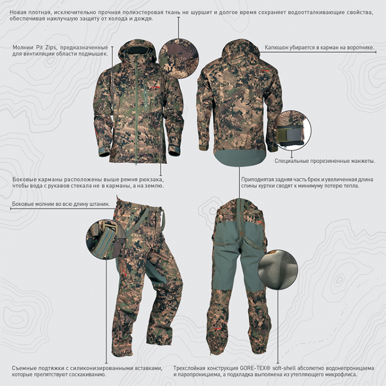Куртка SITKA Coldfront Jacket цвет Optifade Ground Forest фото 2