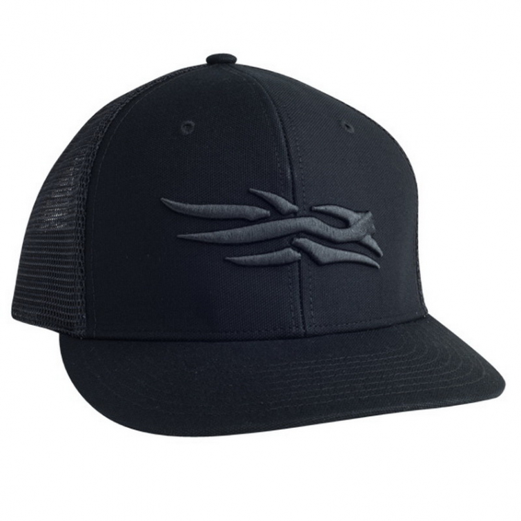 Бейсболка SITKA Flatbill Cap цвет Black фото 1