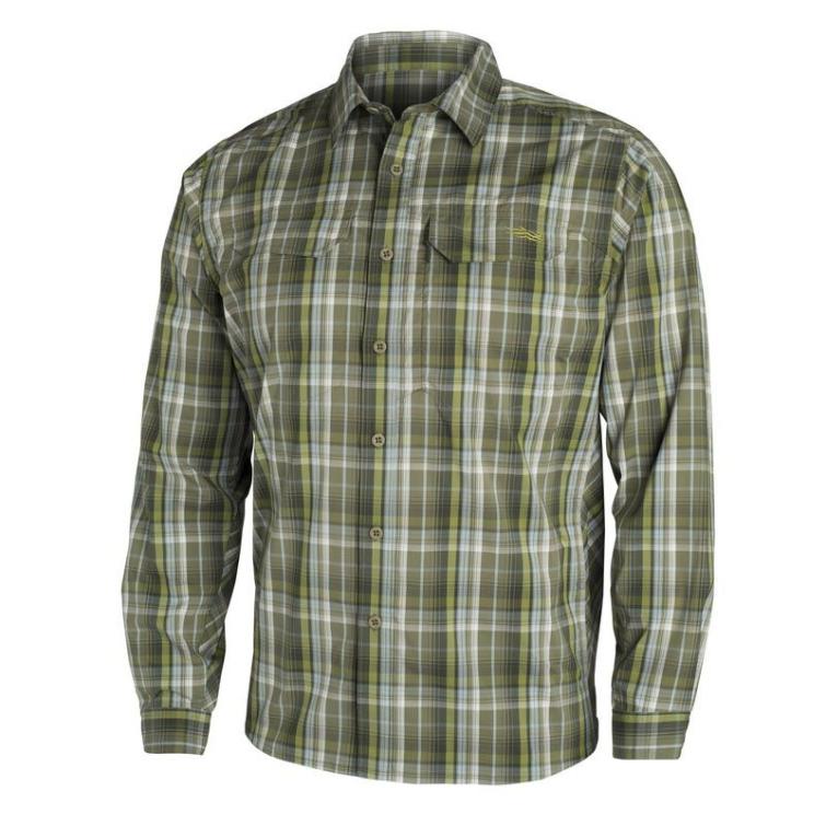 Рубашка SITKA Globe Trotter Shirt LS цвет Cargo Plaid фото 1