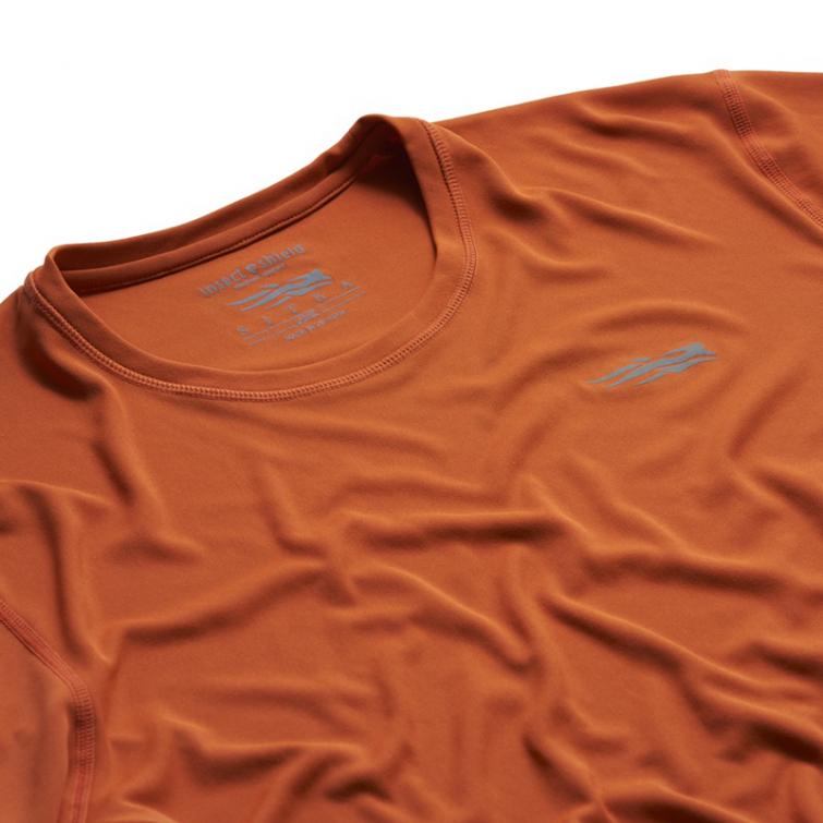 Футболка SITKA Basin Work Shirt LS цвет Burnt Orange фото 2
