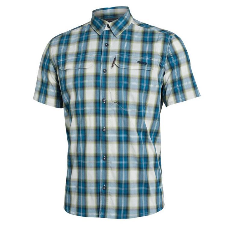 Рубашка SITKA Globetrotter Shirt SS цвет Fog Plaid фото 1