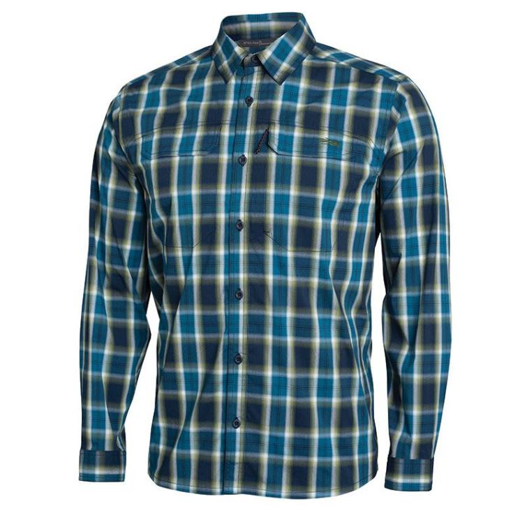 Рубашка SITKA Globetrotter Shirt LS цвет Pond Plaid фото 1
