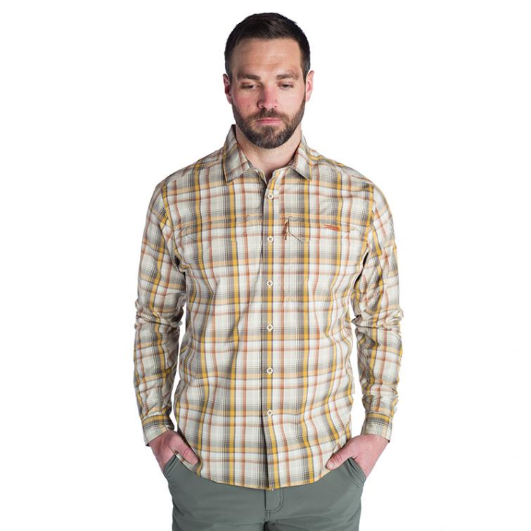 Рубашка SITKA Globetrotter Shirt LS цвет Sand Plaid фото 2