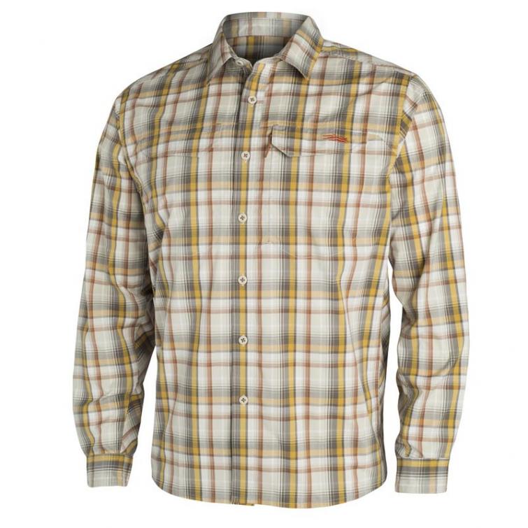 Рубашка SITKA Globe Trotter Shirt LS цвет Sand Plaid