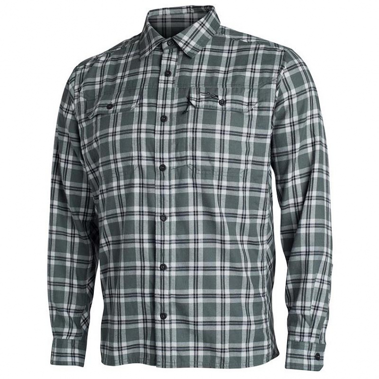 Рубашка SITKA Frontier Shirt цвет Lead Plaid фото 1