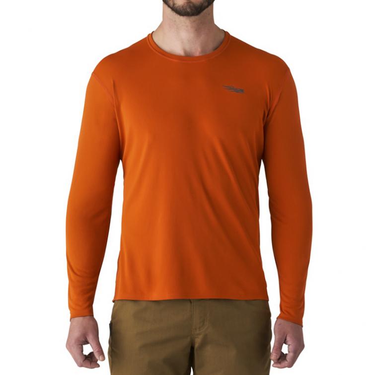 Футболка SITKA Basin Work Shirt LS цвет Burnt Orange фото 6