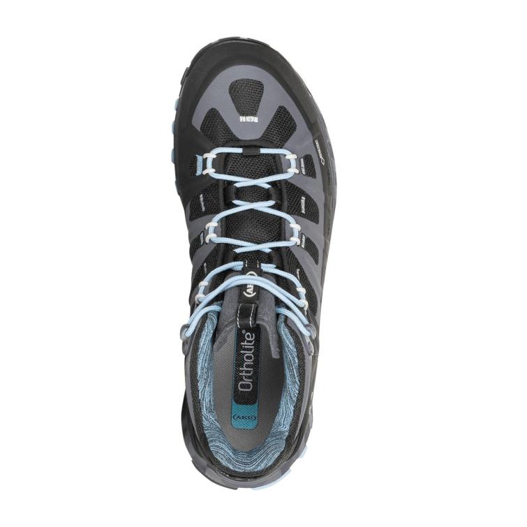 Ботинки треккинговые AKU WS Selvatica Mid GTX цвет Black / Light Blue фото 2