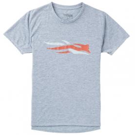 Футболка SITKA Logo Tee Ss цвет Heather Grey