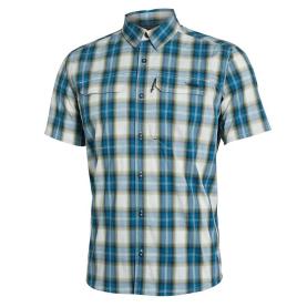 Рубашка SITKA Globetrotter Shirt SS цвет Fog Plaid