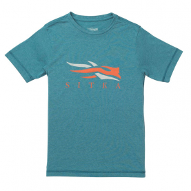 Футболка SITKA Youth Logo Tee SS цвет Pond