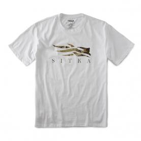 Футболка SITKA Core Tee SS цвет White / Marsh