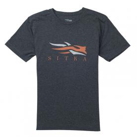 Футболка SITKA Logo Tee SS New цвет Heather Black