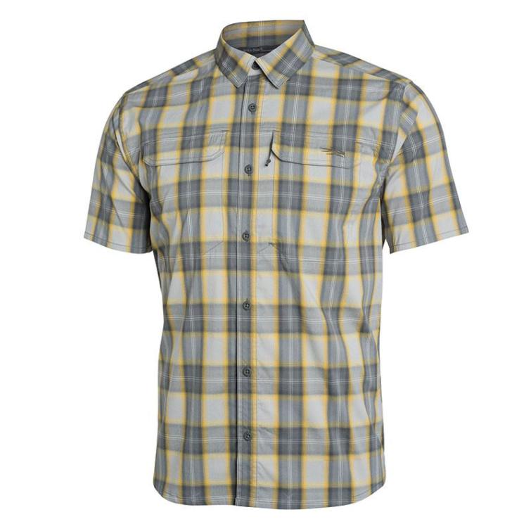 Рубашка SITKA Globetrotter Shirt SS цвет Aluminum Plaid фото 1