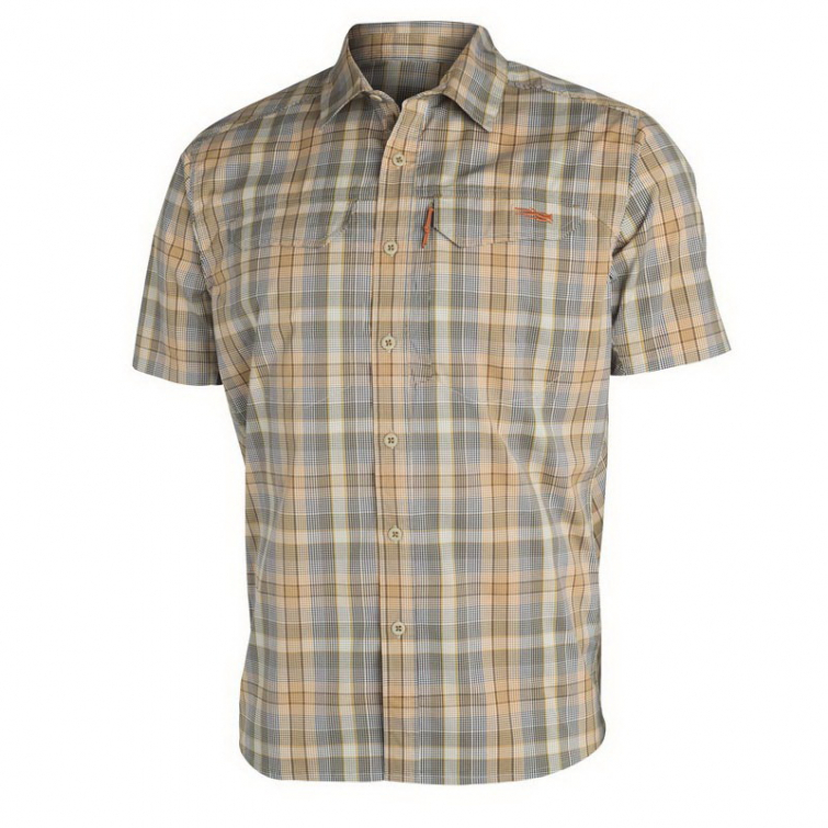 Рубашка SITKA Globetrotter Shirt SS цвет Twill Plaid фото 1